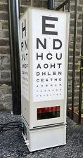 More details for original vintage freestanding hamblin rotating opticians eye test light box 77cm