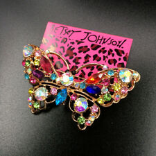 Betsey Johnson Colorful Crystal Lovely Butterfly Animal Charm Woman Brooch Pin