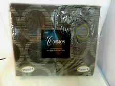 "COSMOS Curtains Grommet Panel Pair 2 Panels 80 x 84"" Chocolate Polyester New"