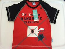 NEW Boy Kids Baby Red short sleeves shirt tee T-shirt Tops