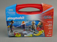 Play Mobil City Action FIRE RESCUE CARRY CASE #5651 #OO