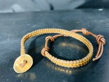 Chan Luu  Brown Leather with Wrap Bracelet Marked 925 And Signed Chan Luu