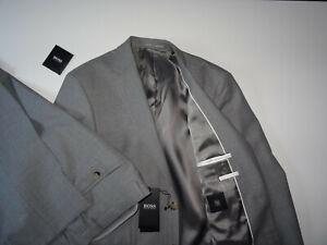 NEU HUGO BOSS Johnstons5 Lenon Gr.94 L34 ANZUG Black Grau Suit Regular Fit 38 L