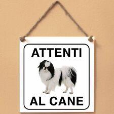 Cane Chin 1 Attenti al cane Targa cane cartello