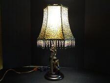 MONKEY BUFFET TABLE LAMP LEOPARD SAFARI JUNGLE ANIMAL BEAD LAMP SHADE LIGHT EX!!