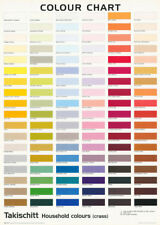 LOT OF 2  POSTERS :ART: COMICAL: COLOUR CHART - TAKISCHITT    #FPO374    RC25 B