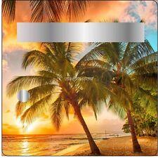 Sticker boites aux lettres déco Coucher de soleil 30x30cm 3502