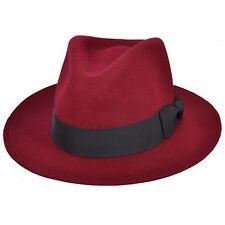 Para Hombre crushable Indiana 100% fieltro de lana Fedora Trilby sombrero  con ancho de banda 59f8284dabe
