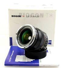 Carl Zeiss 21mm F2.8 Biogon Lens for Leica M Cameras. Boxed