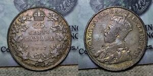 1917 Canada Twenty Five Cents 25c Nicely Toned