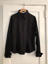Anne  Fontaine Black Button Down / Cotton Blend  Shirt .  SZ 46 France