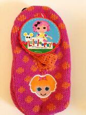 Lalaloopsy Mary Jane Slipper Socks - Pink & Orange Polka Dot - Bea Spells a Lot