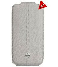 New Trexta Flippo Leather Flip Case Pouch Cover for Apple iPhone 4 4S - White