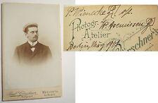 Paul Wienecke 1901 CDV Werder Berlin Studentika Burschenschaft Rhenania München