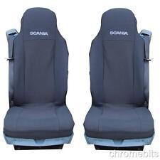 2 noir tissu sur mesure Housses de siège pour SCANIA G P R série