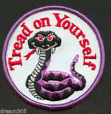 New listing Arctic Cat Vintage Snowmobile 1970's Patch/ Badge! - Cobra! Tread On Yourself!
