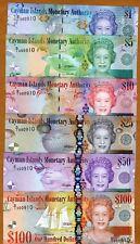 SET, Cayman Islands, $1;5;10;25;50;100, 2010 (2011) Low matching S/Ns, UNC