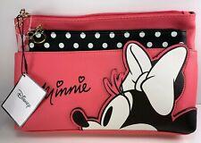 Primark Disney Minnie Mouse Make Up And Toiletry Bag Nwt Rare Pink Polka Dot