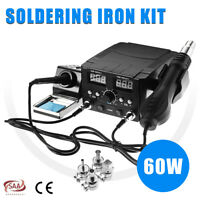 750W Electronics Soldering Welding Iron Station Hot Air Rework Heater Tool  g