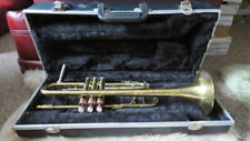 Vintage Simba Instruments Trumpet With Carry Case & 8 Books