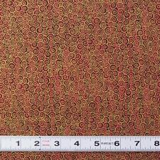 Lot G604 - TIVOLI SCROLL in Dark Red by Makower -Patchwork Fabric by the ½ metre