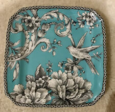 "222 FIFTH AVENUE ADELAIDE Turquoise Square Appetizer Plate 6 1/4"" X 6 1/4"""