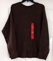 Lot of 2 NWOT Mens HATHAWAY Brown Crewneck Pullover Shirt Sweater Size M Medium