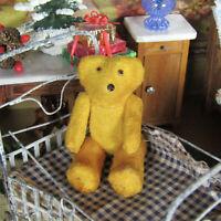 Antique Schuco MOHAIR TEDDY BEAR Vintage Miniature Dollhouse Stuffed Animal Toy