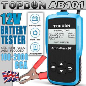 2021NEW! TOPDON 12V Car Load Battery Tester Digital Analyzer Tester LCD Screen