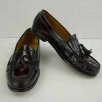 Cole Haan Cordovan Leather Pinch Tassel Loafers Mens Shoes Sz 10 1/2 D
