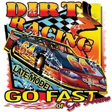 LATE MODEL DIRT TRACK RACING T SHIRT M TO 6XL