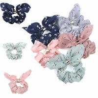 Hot Women Elastic Bow Knot Hair Rope Ring Tie Scrunchie Ponytail Holder HairBand