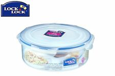 Lock And Lock Round Transparent Container 1.6L Food Storage Solution Kitchen New
