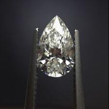 Natural White Diamond H Color 2.0cts 7x9mm Pear Shape VVS2 Clarity