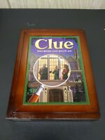 CLUE PARKER BROTHERS CLASSIC DETECTIVE GAME WOODEN BOX 2011 USED COMPLETE