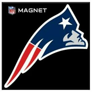 "New England Patriots SD 6"" Logo Magnet Die Cut Auto Home Heavy Duty Football"