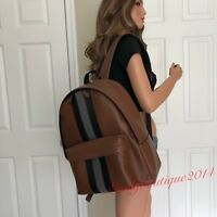 NWT COACH MENS SADDLE BROWN LEATHER LARGE BACKPACK BAG