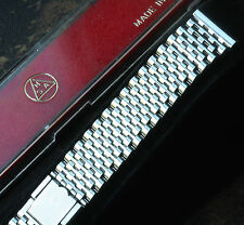 Beads Monaco 19mm ends steel 2-pc clasp NSA watch band Swiss 1960s/70s 7 sold
