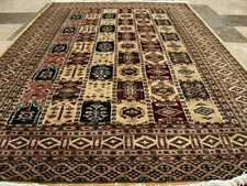 New Bakhtiar Jaal Fine Rectangle Area Rug Hand Knotted Wool Silk Carpet (6 X 4)'