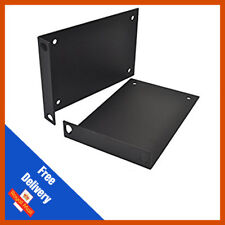 2u Rack Mounting Bracket - Steel - Black Powder Coated | Sold in Pairs
