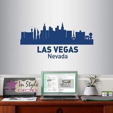 Wall Vinyl Decal Las Vegas Nevada Skyline City USA Room Decor Sticker 1269