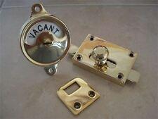 BRASS VACANT ENGAGED TOILET ⭐️⭐️⭐️⭐️⭐️ BATHROOM LOCK BOLT INDICATOR DOOR HANDLES