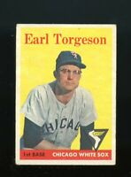 1958 Topps BB Card #138 Earl Torgeson Chicago White Sox NR-MINT