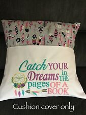 Childrens Reading Book iPad Pocket Pillow Cushion Cover Kids Birthday Gift