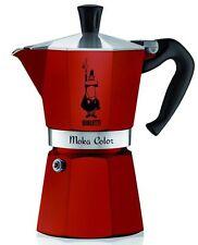 Bialetti Moka Color 6 Cup Stovetop Espresso Coffee Maker Pot Latte Red NEW