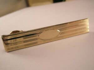 -Engrave Ready 1/20 12K Gold Filled Quality Vintage ANSON Tie Bar Clip simple