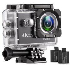 4K WiFi Action Camera Ultra HD 100Feet Waterproof Sports DV Camcorder 16MP 170 D