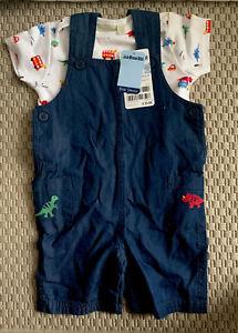 NEW JoJo Maman Bebe Baby Boy 2-piece Dinosaur Outfit (6-12 months)