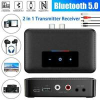 Bluetooth5.0 Transmitter Receiver Wireless 3.5mm AUX RCA 2 Audio to NFC C8T7