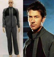 Stargate SG1 Black Jacket Uniform cosplay Costume Custom Made:Free shipping